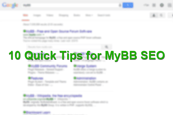 10 quick tips for mybb seo