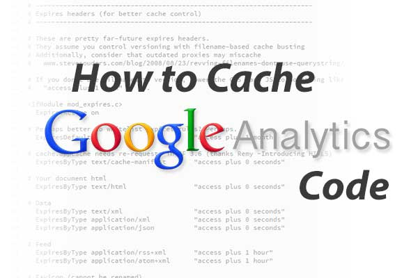 cache google analytics banner