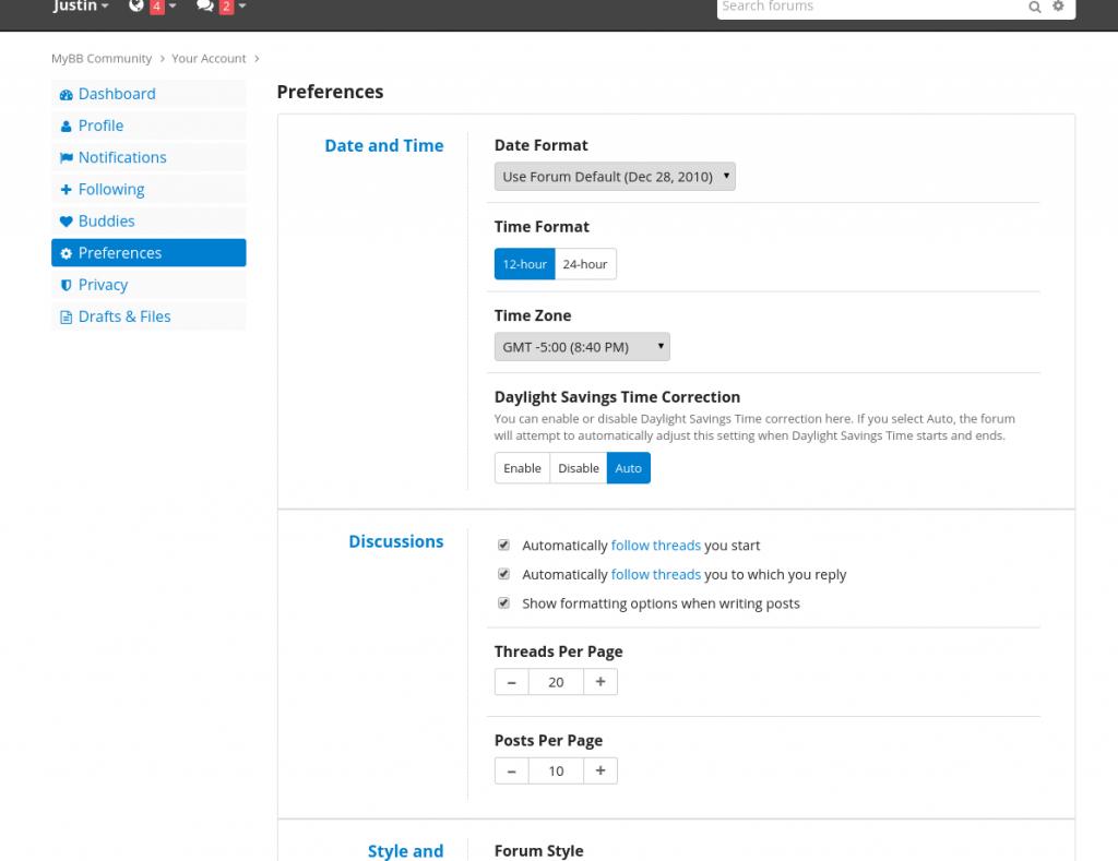 mybb 2.0 user control panel